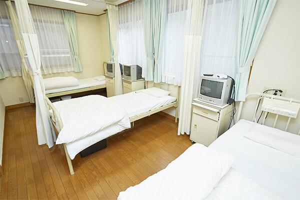 病床数19床の入院設備